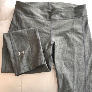 Under Armour silver/grey crop leggings. Size Med